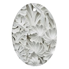 Pattern Motif Decor Oval Ornament (two Sides)