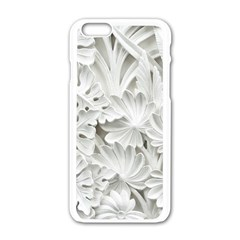 Pattern Motif Decor Apple Iphone 6/6s White Enamel Case