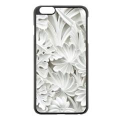 Pattern Motif Decor Apple Iphone 6 Plus/6s Plus Black Enamel Case