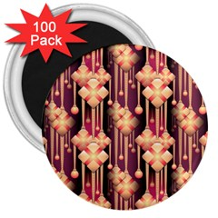 Seamless Pattern 3  Magnets (100 Pack)