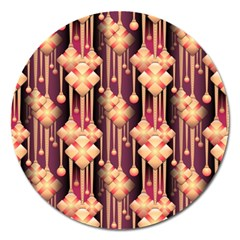 Seamless Pattern Magnet 5  (round)