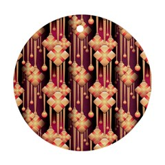 Seamless Pattern Round Ornament (two Sides)