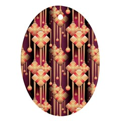 Seamless Pattern Oval Ornament (two Sides)