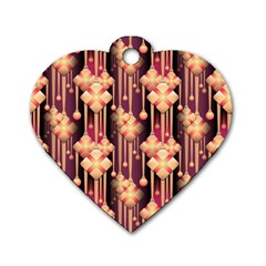 Seamless Pattern Dog Tag Heart (two Sides)
