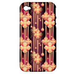 Seamless Pattern Apple Iphone 4/4s Hardshell Case (pc+silicone)