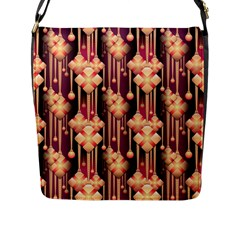 Seamless Pattern Flap Messenger Bag (l)