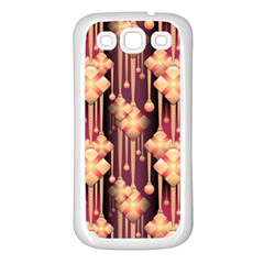 Seamless Pattern Samsung Galaxy S3 Back Case (white)
