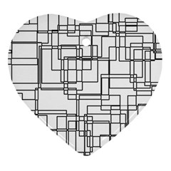 Structure Pattern Network Ornament (heart)