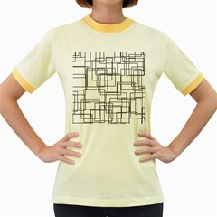 Structure Pattern Network Women s Fitted Ringer T Shirts