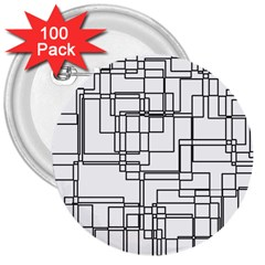 Structure Pattern Network 3  Buttons (100 Pack)