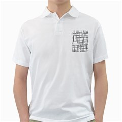 Structure Pattern Network Golf Shirts