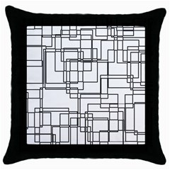 Structure Pattern Network Throw Pillow Case (black)