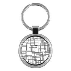 Structure Pattern Network Key Chains (round)