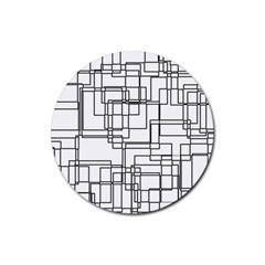 Structure Pattern Network Rubber Round Coaster (4 Pack)