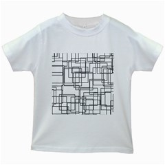 Structure Pattern Network Kids White T Shirts