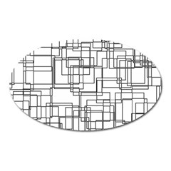 Structure Pattern Network Oval Magnet