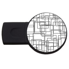 Structure Pattern Network Usb Flash Drive Round (2 Gb)