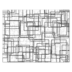 Structure Pattern Network Rectangular Jigsaw Puzzl
