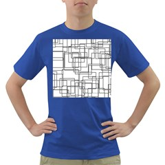 Structure Pattern Network Dark T Shirt