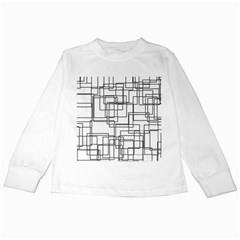 Structure Pattern Network Kids Long Sleeve T Shirts