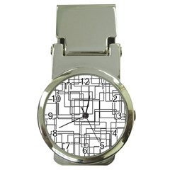 Structure Pattern Network Money Clip Watches