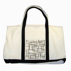 Structure Pattern Network Two Tone Tote Bag