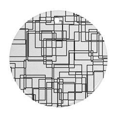 Structure Pattern Network Round Ornament (two Sides)