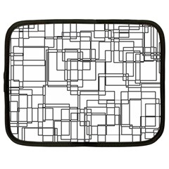 Structure Pattern Network Netbook Case (large)
