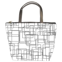 Structure Pattern Network Bucket Bags