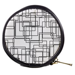 Structure Pattern Network Mini Makeup Bags