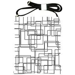 Structure Pattern Network Shoulder Sling Bags