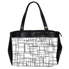Structure Pattern Network Office Handbags (2 Sides)