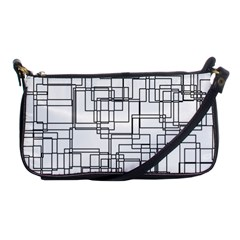 Structure Pattern Network Shoulder Clutch Bags