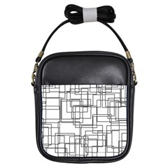 Structure Pattern Network Girls Sling Bags