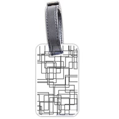 Structure Pattern Network Luggage Tags (One Side)