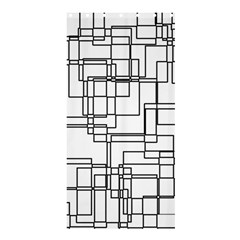 Structure Pattern Network Shower Curtain 36  X 72  (stall)