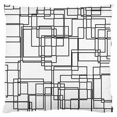 Structure Pattern Network Large Cushion Case (two Sides)