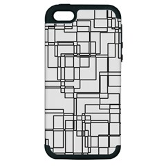 Structure Pattern Network Apple Iphone 5 Hardshell Case (pc+silicone)