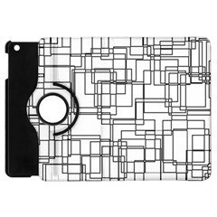 Structure Pattern Network Apple Ipad Mini Flip 360 Case