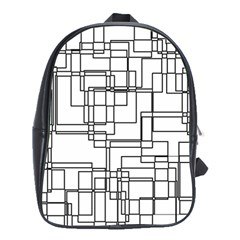 Structure Pattern Network School Bags (xl)
