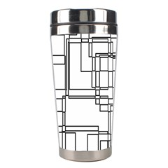 Structure Pattern Network Stainless Steel Travel Tumblers