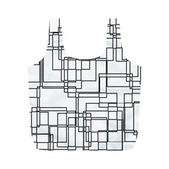 Structure Pattern Network Full Print Recycle Bags (m)