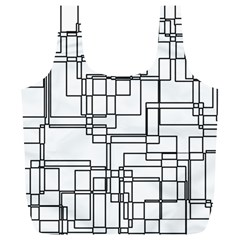 Structure Pattern Network Full Print Recycle Bags (l)