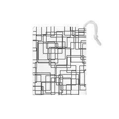 Structure Pattern Network Drawstring Pouches (small)