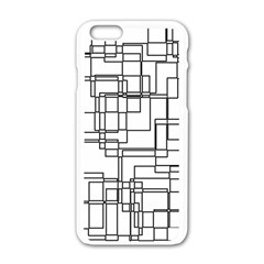 Structure Pattern Network Apple Iphone 6/6s White Enamel Case