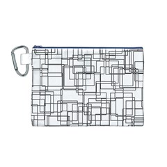 Structure Pattern Network Canvas Cosmetic Bag (m)