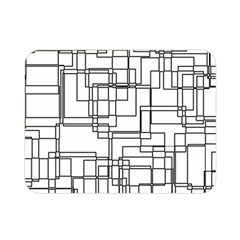 Structure Pattern Network Double Sided Flano Blanket (mini)