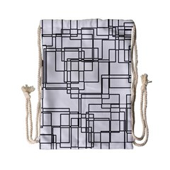 Structure Pattern Network Drawstring Bag (Small)