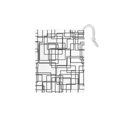 Structure Pattern Network Drawstring Pouches (xs)