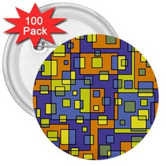 Square Background Background Texture 3  Buttons (100 Pack)